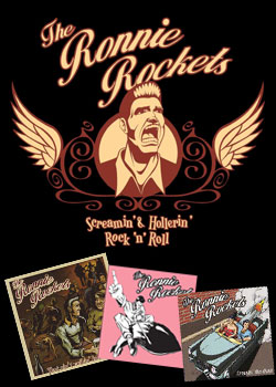 Les 3 CD des Ronnie Rockets.